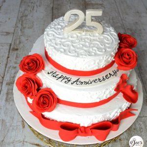 3 Tier Rose Cake