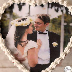 Heart Photo Cake